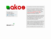 Tablet Preview of akoe.nl